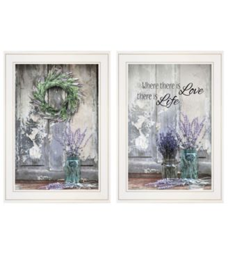 """Where There is Love 2-Piece Vignette by Lori Deiter, White Frame, 15"""" x 21"""""""