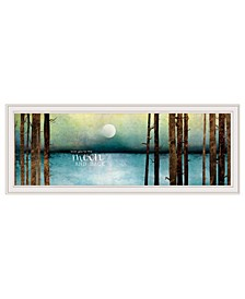 """Love You to the Moon and Back by Marla Rae, Ready to hang Framed print, White Frame, 39"""" x 15"""""""