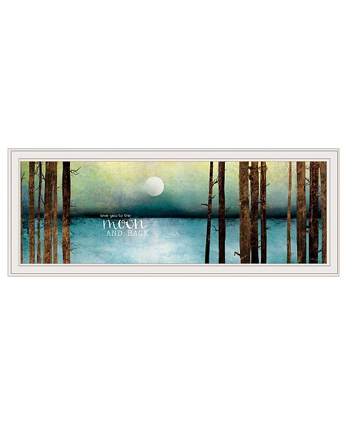 """Trendy Decor 4U Trendy Decor 4U Love You to the Moon and Back by Marla Rae, Ready to hang Framed print, White Frame, 39"""" x 15"""""""