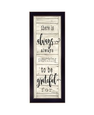 """Be Grateful By Cindy Jacobs, Printed Wall Art, Ready to hang, Black Frame, 10"""" x 26"""""""