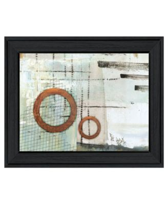 Balance this I by Cloverfield Co, Ready to hang Framed Print, Black Frame, 19