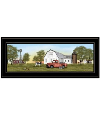 """Summer on the Farm by Billy Jacobs, Ready to hang Framed Print, Black Frame, 27"""" x 11"""""""