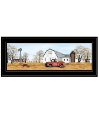 Autumn on Farm by Billy Jacobs, Ready to hang Framed Print, White Frame, 27
