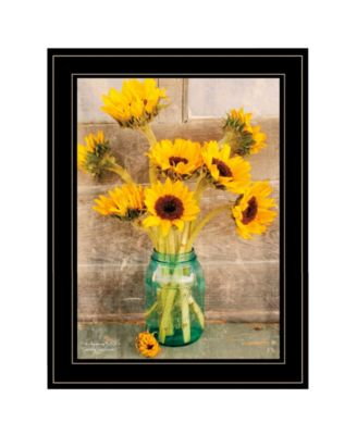 """Country Sunflowers I by Anthony Smith, Ready to hang Framed print, Black Frame, 15"""" x 19"""""""