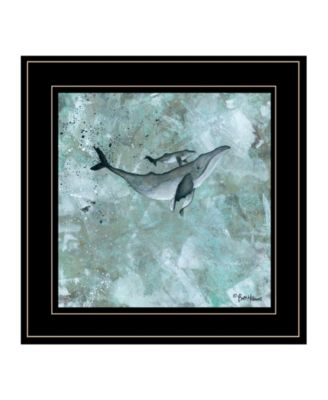 """Simplicity Humpback by Britt Hallowell, Ready to hang Framed Print, Black Frame, 15"""" x 15"""""""