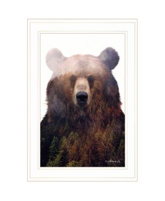 """King of the Forest by andreas Lie, Ready to hang Framed Print, White Frame, 15"""" x 21"""""""