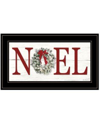 "Christmas Noel by Lori Deiter, Ready to hang Framed Print, Black Frame, 21"" x 12"""