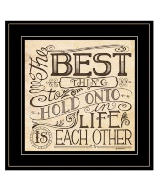 Each Other by Deb Strain, Ready to hang Framed Print, White Frame, 15