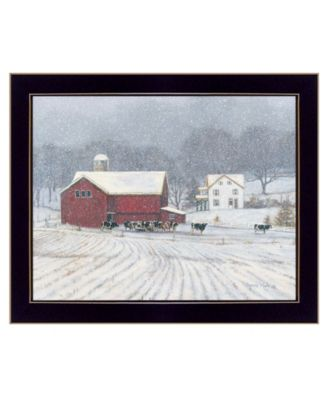 """The Home Place by Bonnie Mohr, Ready to hang Framed Print, Black Window-Style Frame, 18"""" x 14"""""""