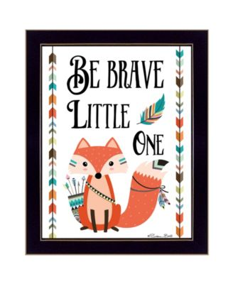 Be Brave Little One By Susan Boyer, Printed Wall Art, Ready to hang, Black Frame, 14