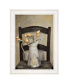 """Golden Tulips by Robin-Lee Vieira, Ready to hang Framed print, White Frame, 15"""" x 19"""""""