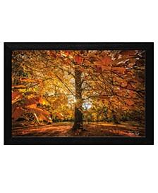 "Autumn Leaves by Martin Podt, Ready to hang Framed Print, Black Frame, 18"" x 12"""