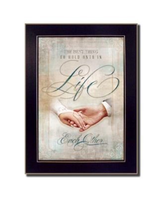 """Each Other By Mollie B., Printed Wall Art, Ready to hang, Black Frame, 20"""" x 14"""""""