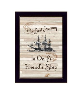 """Friendship Journey by Millwork Engineering, Ready to hang Framed Print, Black Frame, 10"""" x 14"""""""