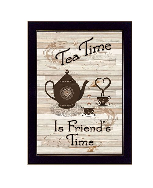 "Trendy Decor 4U Trendy Decor 4U Tea Time by Millwork Engineering, Ready to hang Framed Print, Black Frame, 10"" x 14"""