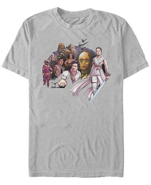 Star Wars Men's Rise of Skywalker Group Drawing T-shirt