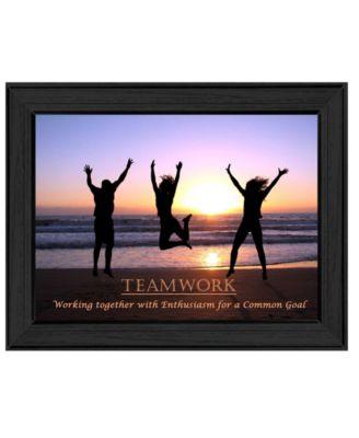 "Teamwork By Trendy Decor4U, Printed Wall Art, Ready to hang, Black Frame, 14"" x 10"""
