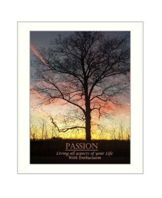 """Passion By Trendy Decor4U, Printed Wall Art, Ready to hang, White Frame, 18"""" x 14"""""""