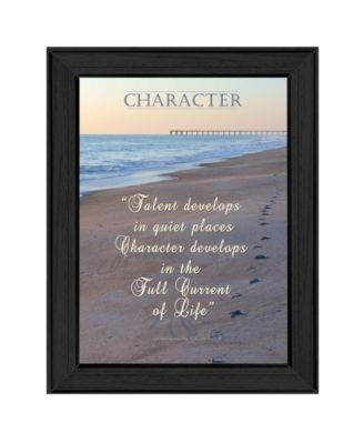 Character By Trendy Decor4U, Printed Wall Art, Ready to hang, Black Frame, 15