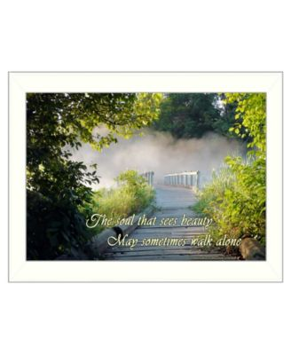 """Beauty By Trendy Decor4U, Printed Wall Art, Ready to hang, White Frame, 15"""" x 11"""""""