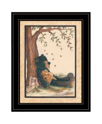 """Nap Time by Mary June, Ready to hang Framed Print, Black Frame, 15"""" x 19"""""""