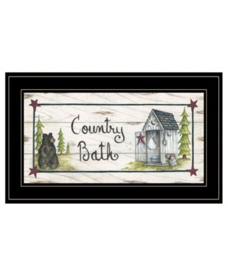 Country Bath by Mary Ann June, Ready to hang Framed Print, Black Frame, 21