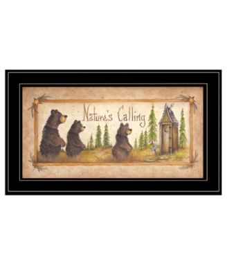 """Natures Calling by Mary Ann June, Ready to hang Framed Print, Black Frame, 11"""" x 19"""""""