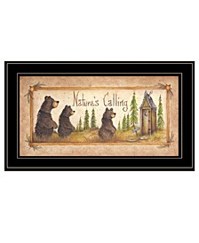 "Trendy Decor 4U Natures Calling by Mary Ann June, Ready to hang Framed Print, Black Frame, 11"" x 19"""