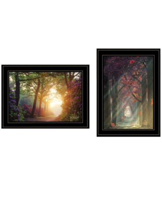"""Path of Happiness 2-Piece Vignette by Martin Podt, Black Frame, 21"""" x 15"""""""