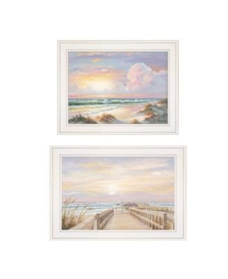 "Sunrise-Sunset 2-Piece Vignette by Georgia Janisse, White Frame, 21"" x 15"""