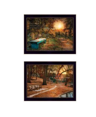 "Resting Places 2-Piece Vignette by Robin-Lee Vieira, Black Frame, 18"" x 14"""