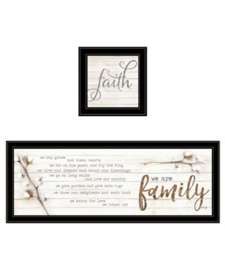 """We are Family 2-Piece Vignette by Marla Rae, Black Frame, 39"""" x 15"""""""
