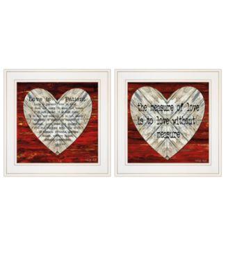"Love is Patient / Measure 2-Piece Vignette by Cindy Jacobs, White Frame, 15"" x 15"""