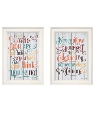 """Who You Think 2-Piece Vignette by Susan Ball, White Frame, 15"""" x 19"""""""