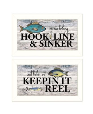 Fishing Combo 2-Piece Vignette by Robin-Lee Vieira, White Frame, 20