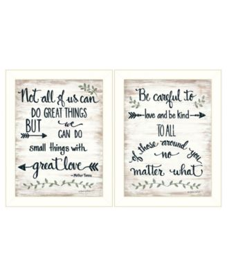 """Great Love 2-Piece Vignette by Annie LaPoint, White Frame, 14"""" x 18"""""""