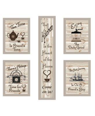 """Kitchen Friendship Collection 5-Piece Vignette by Millwork Engineering, Sand Frame, 10"""" x 32"""""""