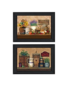 Trendy Decor 4U Antique Kitchen - Treasures 2-Piece Vignette by Ed Wargo, Frame Collection