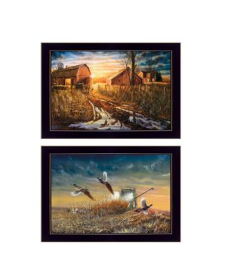 """Days Not Forgotten Collection By Jim Hansen, Printed Wall Art, Ready to hang, Black Frame, 20"""" x 14"""""""