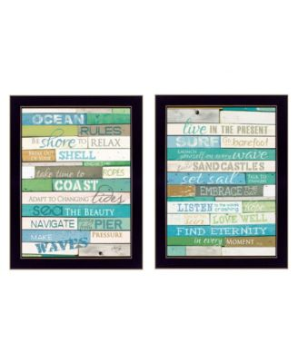 """Live in The Present Collection By Marla Rae, Printed Wall Art, Ready to hang, Black Frame, 10"""" x 14"""""""