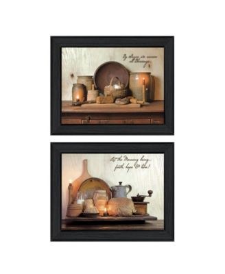 """By Grace Collection By Susan Boyer, Printed Wall Art, Ready to hang, Black Frame, 38"""" x 15"""""""
