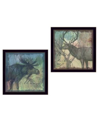 """Wildlife Collection Collection By Barb Tourtillotte, Printed Wall Art, Ready to hang, Black Frame, 28"""" x 14"""""""