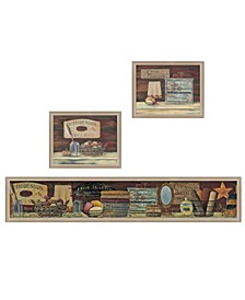Trendy Decor 4U Country Bath I Collection By Pam Britton, Printed Wall Art, Ready to hang Collection