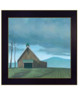 """Lonesome Barn by Tim Gagnon, Ready to hang Framed Print, Black Frame, 14"""" x 14"""""""