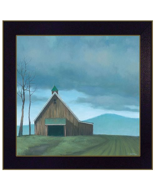 "Trendy Decor 4U Trendy Decor 4U Lonesome Barn by Tim Gagnon, Ready to hang Framed Print, Black Frame, 14"" x 14"""