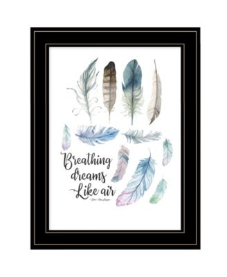 Breathing Dreams Like Air by Seven Trees Design, Ready to hang Framed Print, Black Frame, 15
