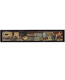 Trendy Decor 4U Country Bath Shelf by Pam Britton, Ready to hang Framed Print Collection
