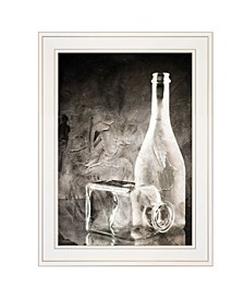 "Moody Gray Glassware Still Life by Bluebird Barn, Ready to hang Framed Print, White Frame, 15"" x 19"""