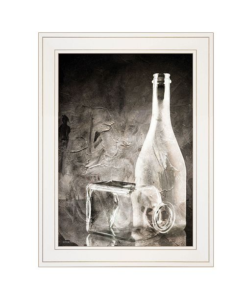 "Trendy Decor 4U Trendy Decor 4U Moody Gray Glassware Still Life by Bluebird Barn, Ready to hang Framed Print, White Frame, 15"" x 19"""