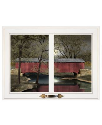 """Warm Summer's Eve by Billy Jacobs, Ready to hang Framed Print, White Window-Style Frame, 19"""" x 15"""""""